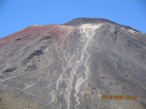 Lava tracts on the crater of Mt Ngauruhoe