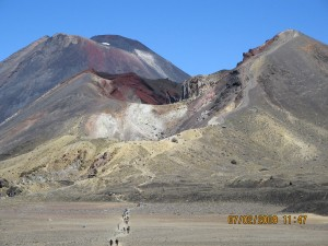 Leaving Red Crater