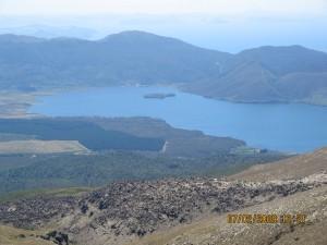 Lake Rotoaira, which lies between Lake Taupo and the foot of Tongariro