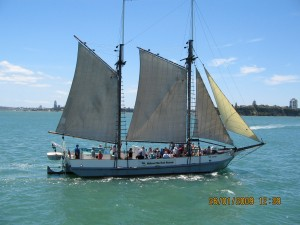 Sailing Boat - Tourists during Auckland Sails Festival