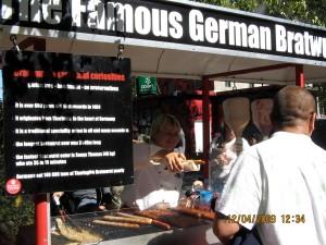 Frankfurter for lunch was good